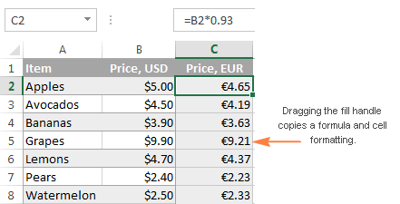 How to copy formula in Excel with or without changing references