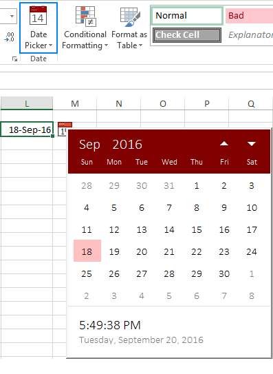 How to insert calendar in Excel (Date Picker & printable calendar ...