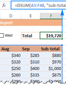 Dsum formula for the interactive report also insert checkbox in excel create checklist or to do list rh ablebits