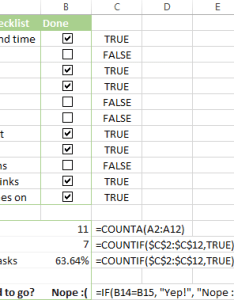 Formulas to summarize the checklist data also insert checkbox in excel create interactive or do list rh ablebits