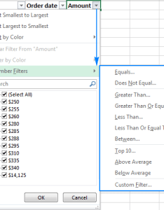 Number filters in excel also filter how to add use and remove rh ablebits