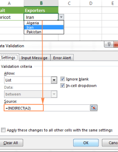 Using indirect with data validation in excel also function basic uses and formula examples rh ablebits