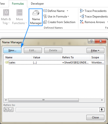Excel Names And Named Ranges How To Define And Use In Formulas