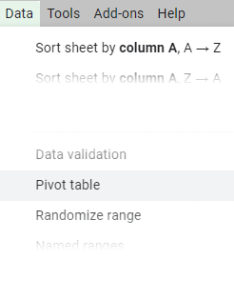 Creating pivot table google spreadsheet will add also sheets tutorial  how to create and examples rh ablebits