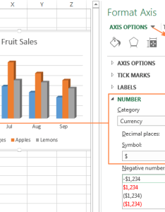 Changing the format of numbers on axis labels also excel charts add title customize chart legend and data rh ablebits
