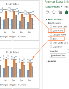 Choosing what data to display on the labels also excel charts add title customize chart axis legend and rh ablebits