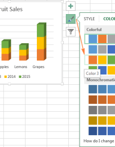Changing the color theme of chart also excel charts add title customize axis legend and data labels rh ablebits