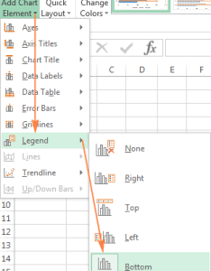 Moving the chart legend also excel charts add title customize axis and data labels rh ablebits