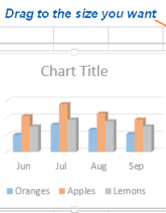 Resizing the chart in excel also how to make  graph and save it as template rh ablebits
