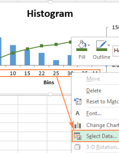 Right click the category labels and select data  also how to make  histogram in excel rh ablebits