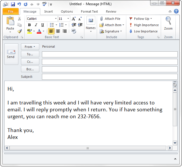 Out Of Office Auto Response In Outlook Without Exchange Gmail And Outlook Com