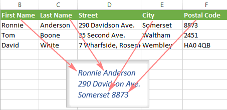How to make labels from Excel using Mail Merge