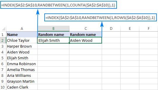 Excel Random Selection How To Get Random Sample From A Dataset