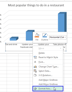Right click on the horizontal axis and select format item from menu also rotate charts in excel spin bar column pie line rh ablebits