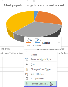 Right click on the legend and select format item from menu also rotate charts in excel spin bar column pie line rh ablebits