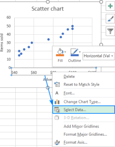 Excel scatter plot select data also find label and highlight  certain point in graph rh ablebits