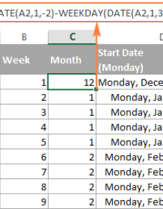 formula to get month corresponding the week number also excel weeknum function  convert date and vice versa rh ablebits
