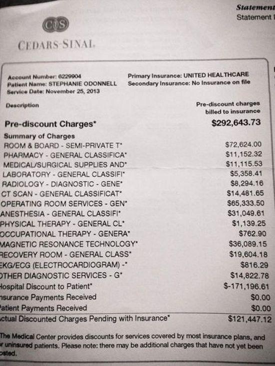 US Medical Bills 15 pics
