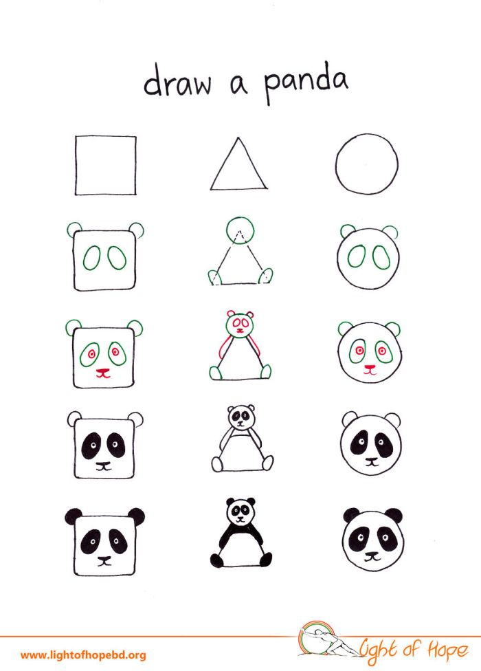 How To Use A Triangle, Square Or Circle To Draw Any Animal
