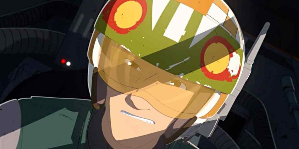 Star Wars Resistance Kaz Xiono in an X-wing