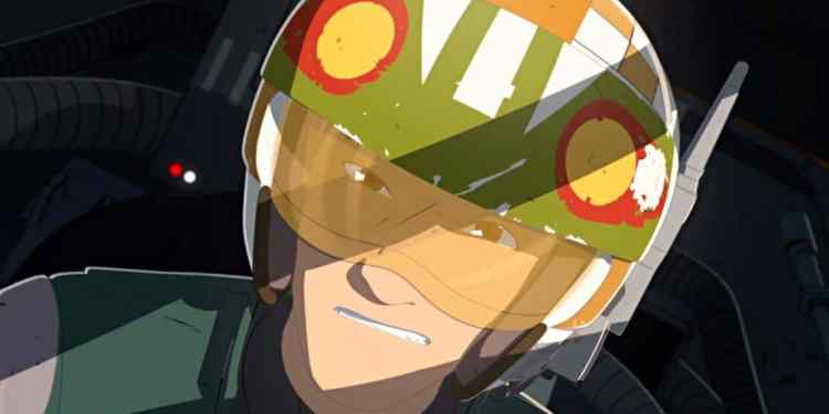 Star Wars Resistance Kaz Xiono in an X-wing