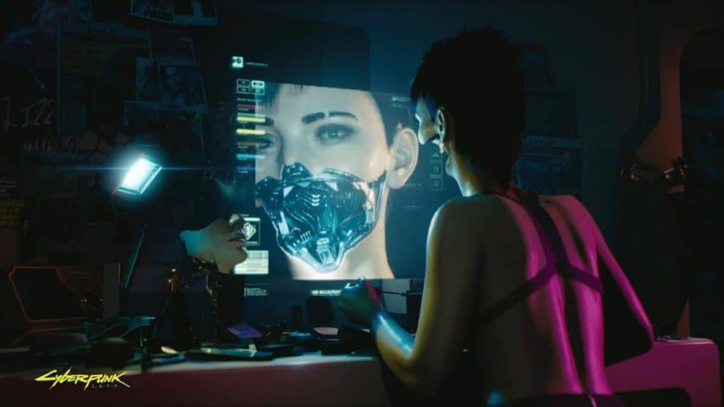 Cyberpunk 2077 A character modding herself