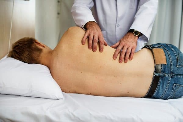 Back massage relieves pain.