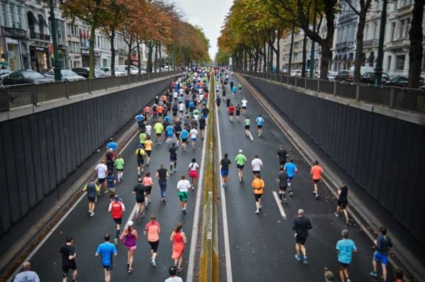 Running a marathon is a great way to meet new people.