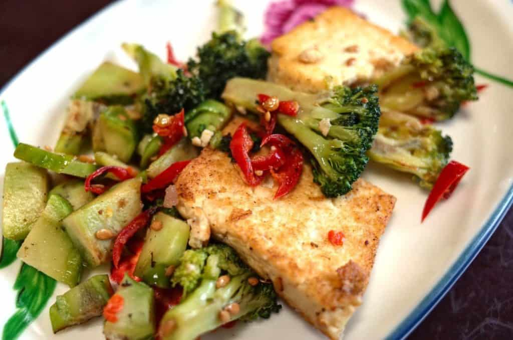Tofu is a great source of vegetarian protein.