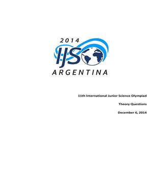 IJSO 2014 THEORY Question Paper, Answer Sheet and Solutions