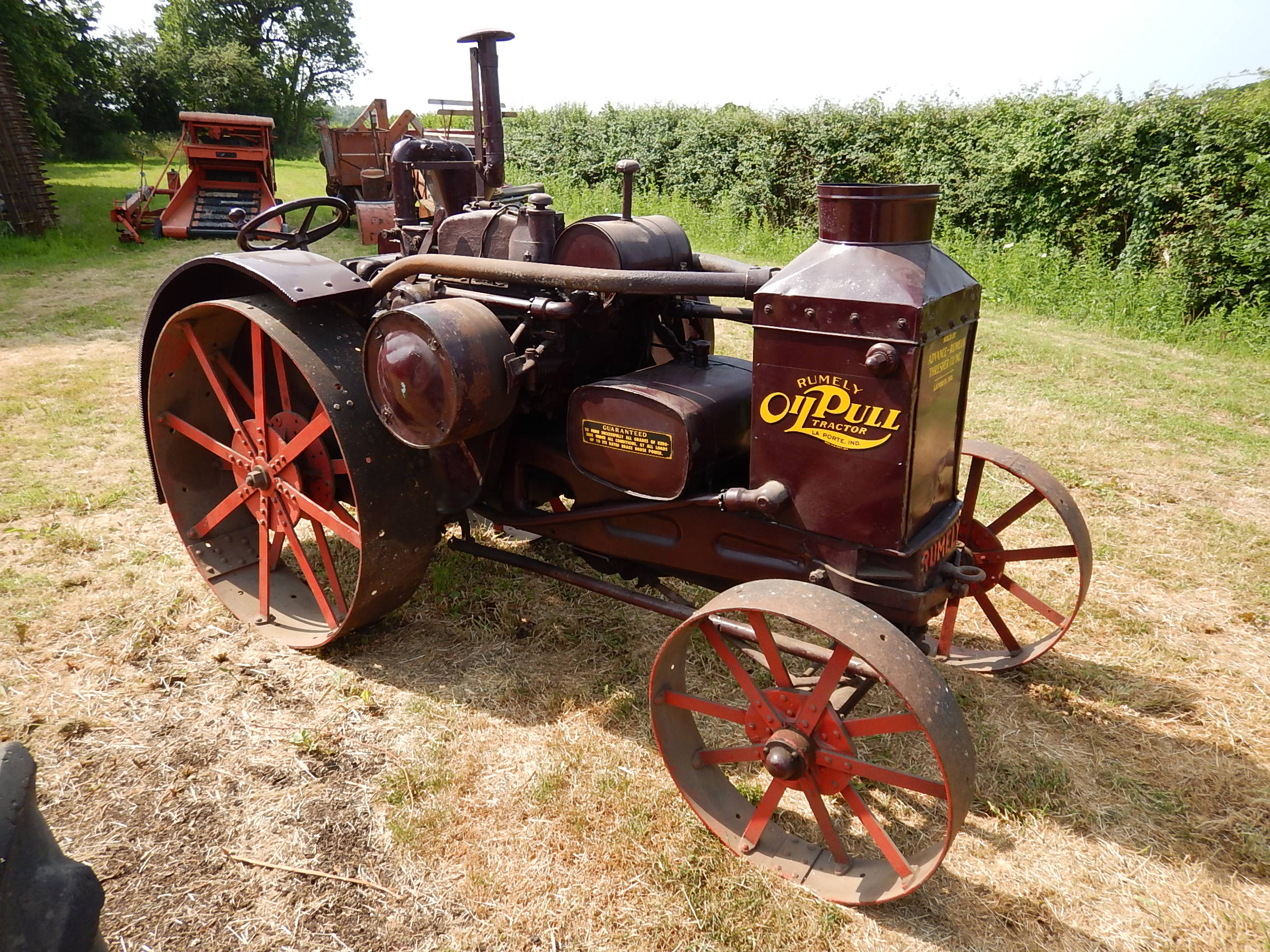 Rumely Steam Tractor For Sale