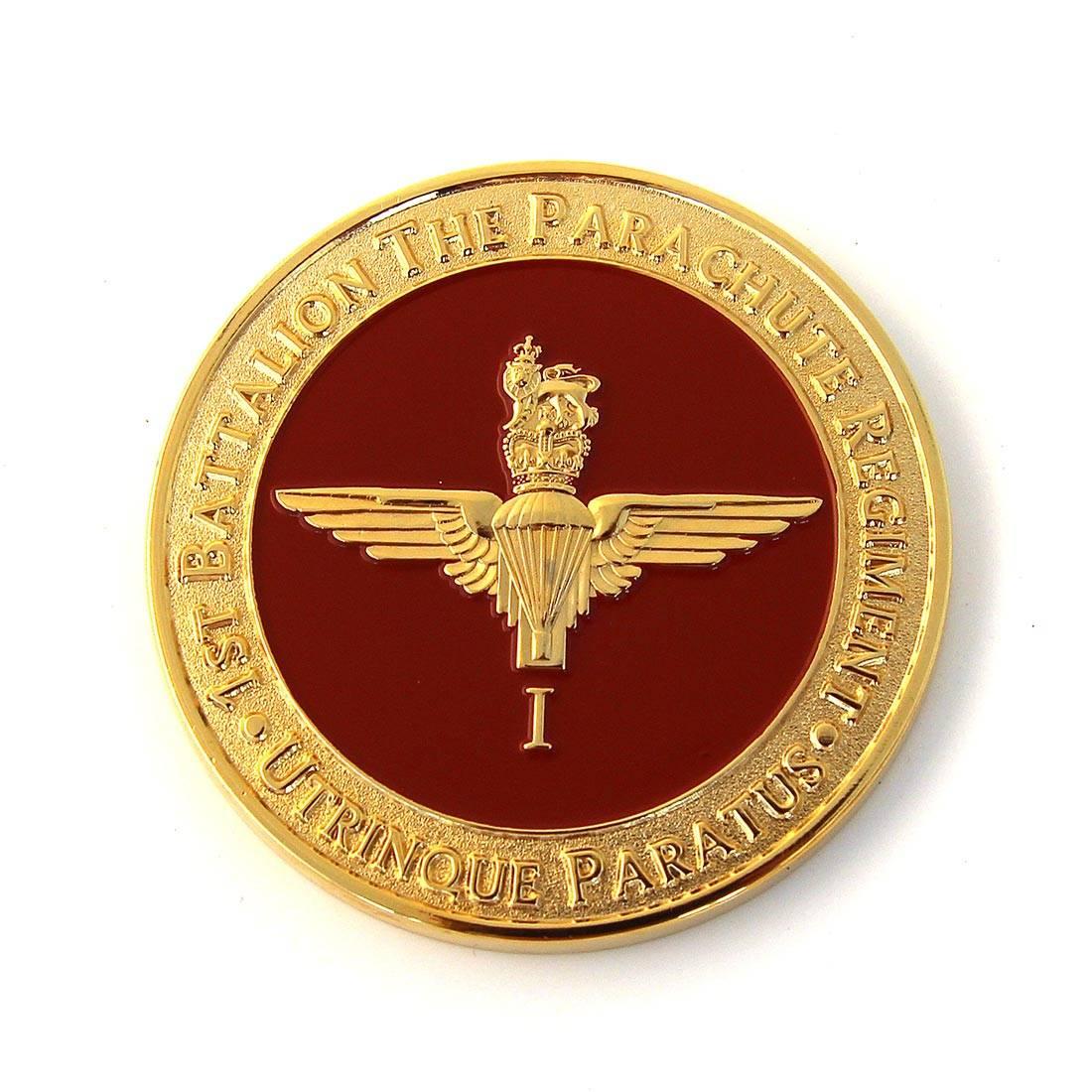 Parachute Regiment Challenge Coins with Battle Honours