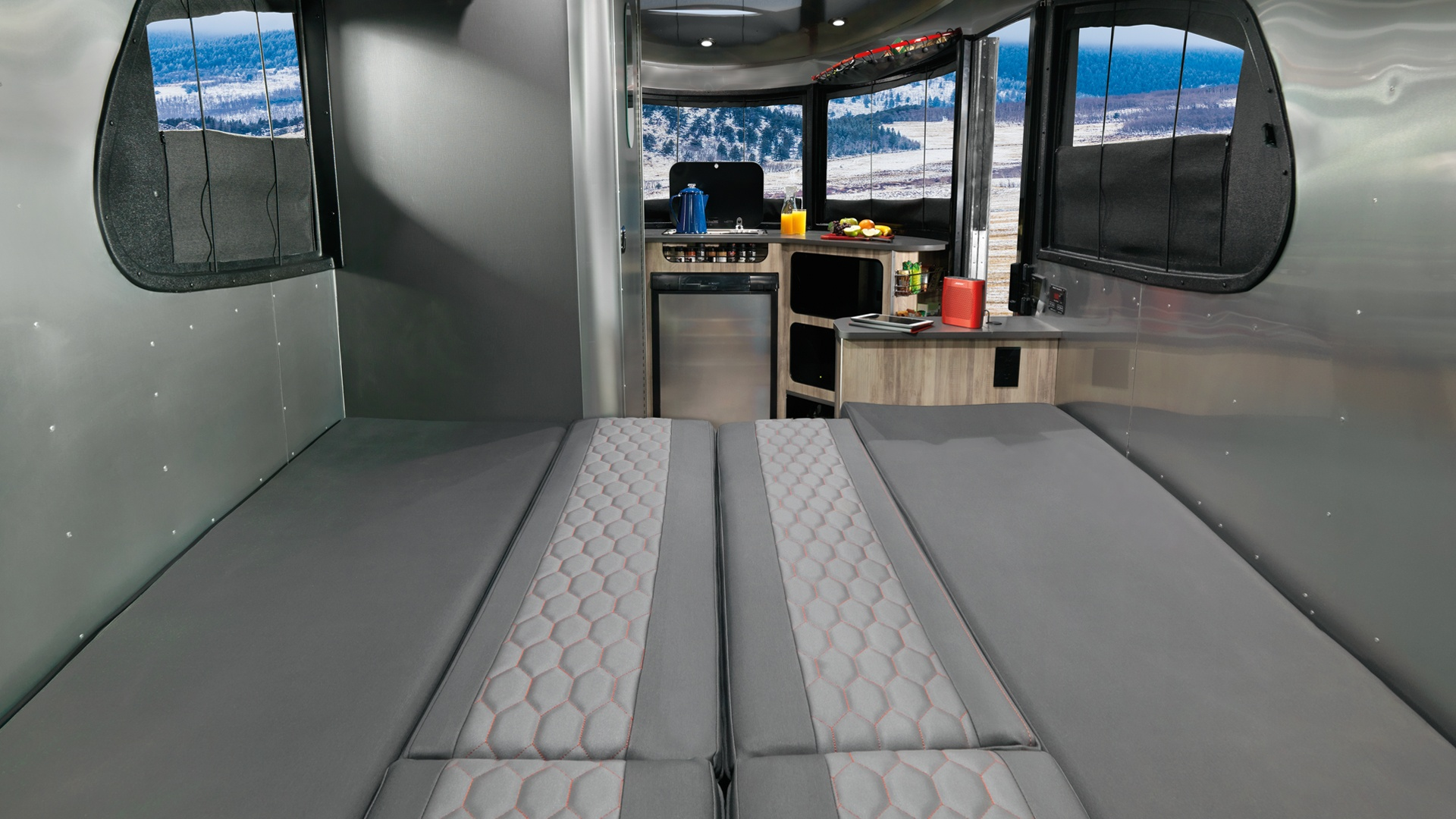 hight resolution of airstream basecamp full bed