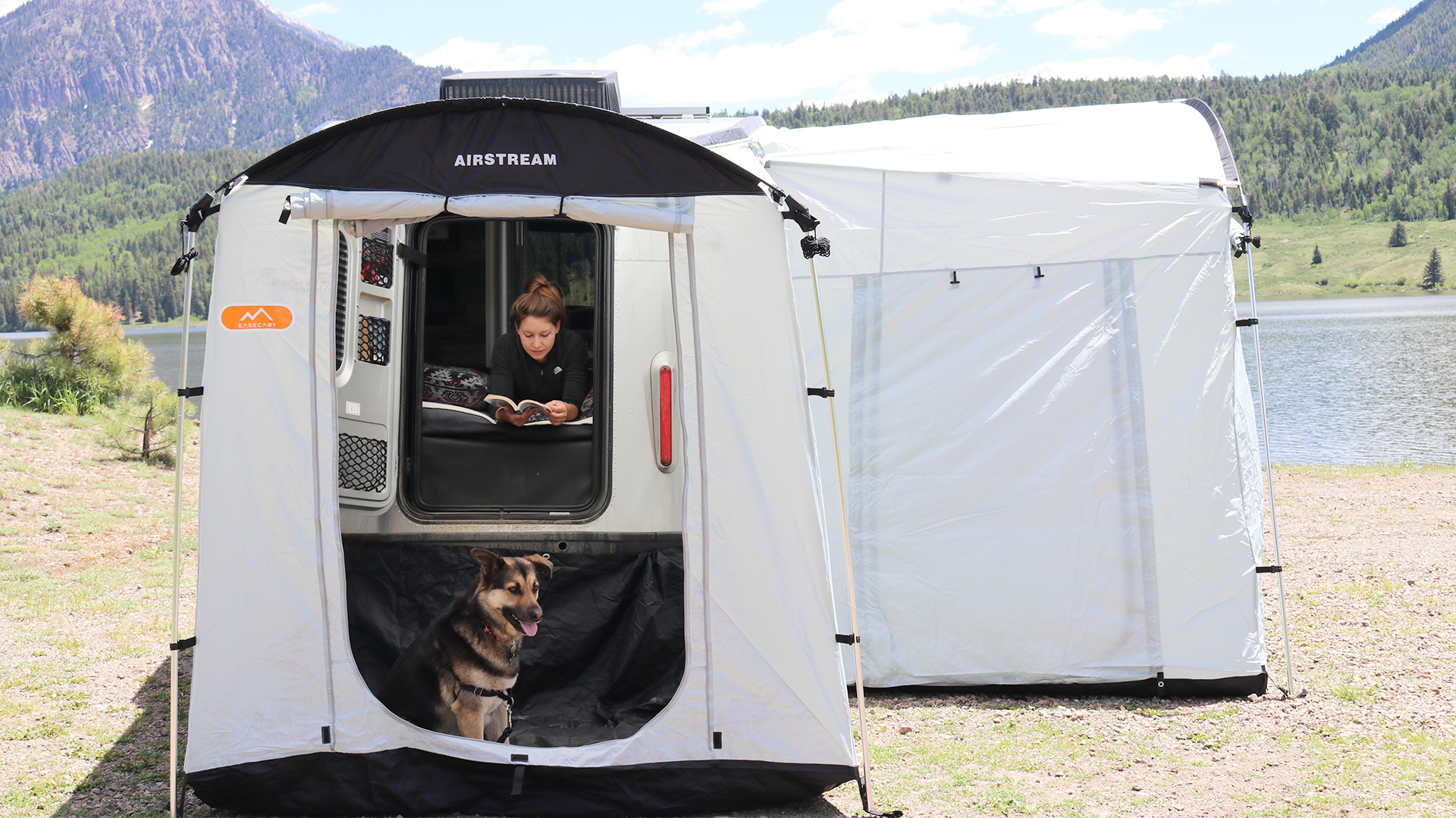 medium resolution of airstream basecamp side and rear tent