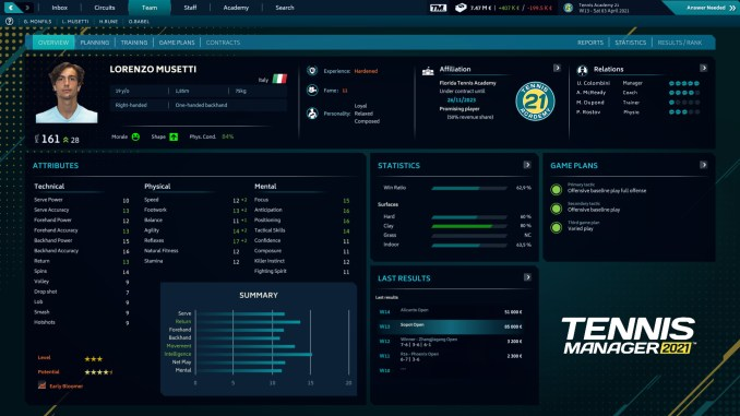 Tennis Manager 2021 screenshot 1