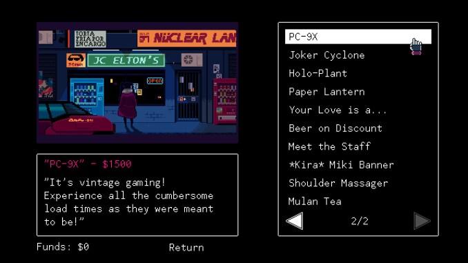 VA-11 HALL-A: Cyberpunk Bartender Action screenshot 3