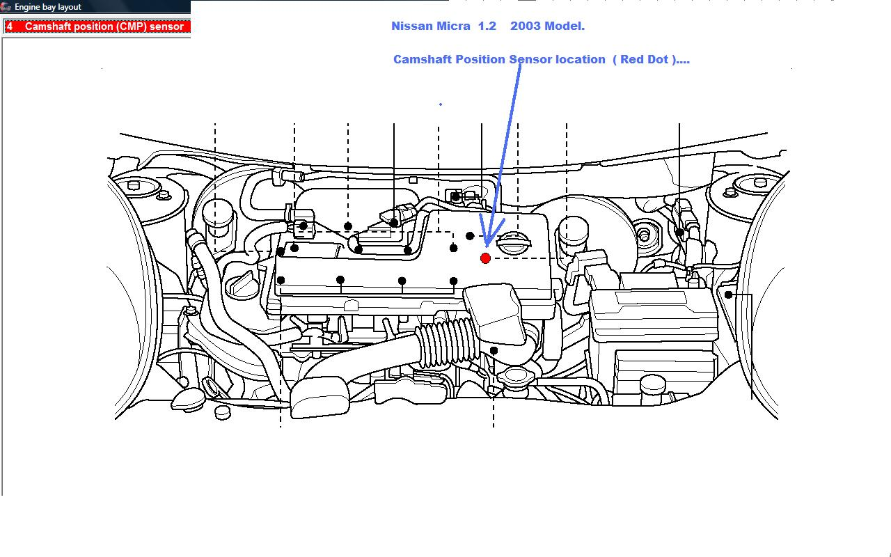 hight resolution of where is the camshaft sensor for a 2003 nissan micra located camshaft lifters diagram camshaft lifters diagram