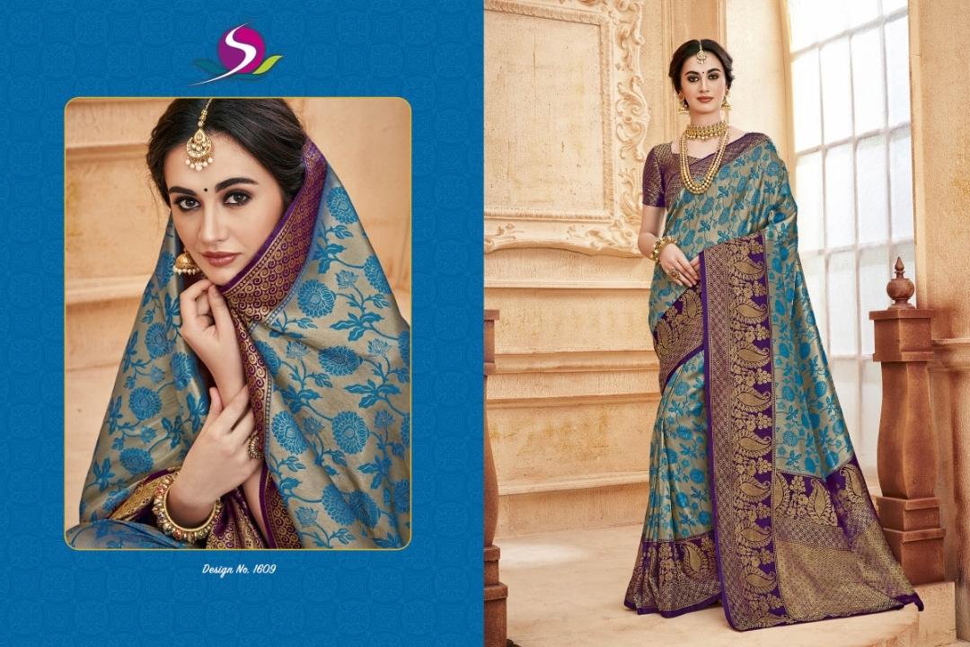 bhumi present shalika rich silk 1601-1612 Series 22980 + 5% GSt Extra traditional wear good looking saree trader in surat