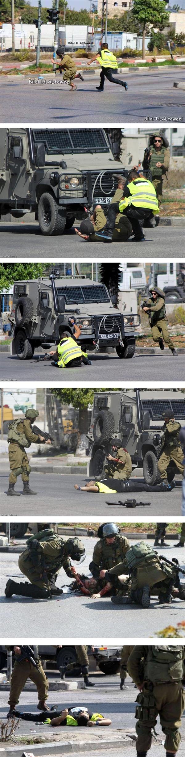 مقتل فلسطيني برصاص الجيش الاسرائيلي بعد طعنه جنديا