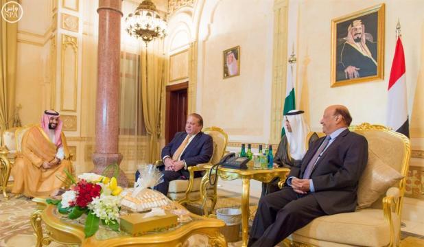 الرئيس اليمني ورئيس وزراء باكستان وسمو وزير الدفاع يبحثون مجالات التنسيق المشتركة وتعزيز السلام في المنطقة
