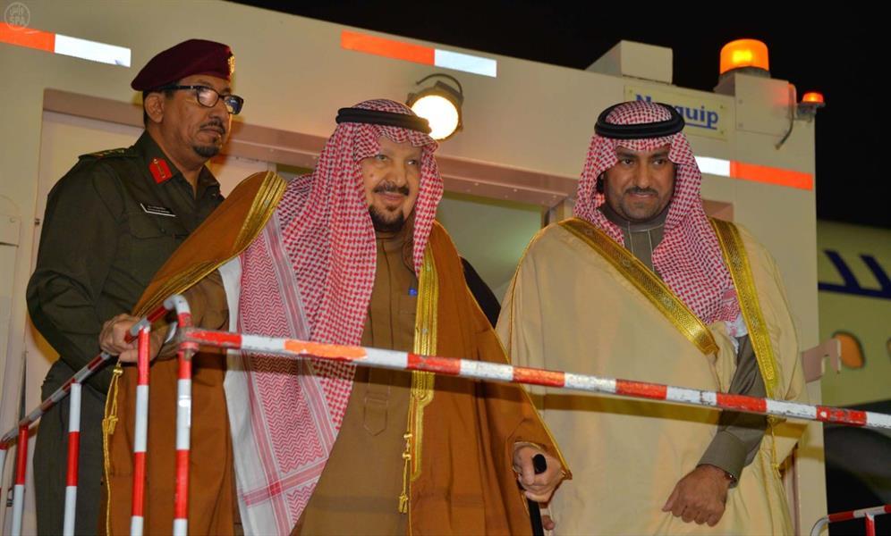 بالصور ولي العهد والأمير أحمد في مقدمة مستقبلي الأمير عبدالرحمن