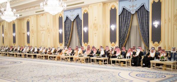 خادم الحرمين الشريفين يستقبل أصحاب السمو الأمراء المهنئين بشهر رمضان