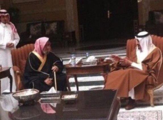 زيارة الملك سلمان للشيخ الشثري