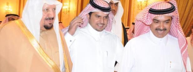 ( عجلان وفهد العجلان مع الأمير عبد الرحمن بن عبد العزيز )