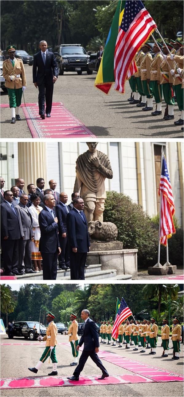 أثيوبيا تستخدم سجاد المساجد في مراسم استقبال أوباما