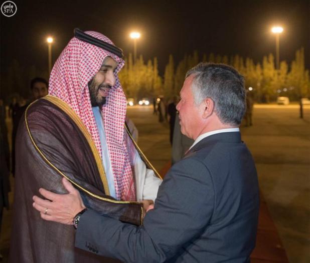 بالصور.. ولي ولي العهد يغادر الأردن