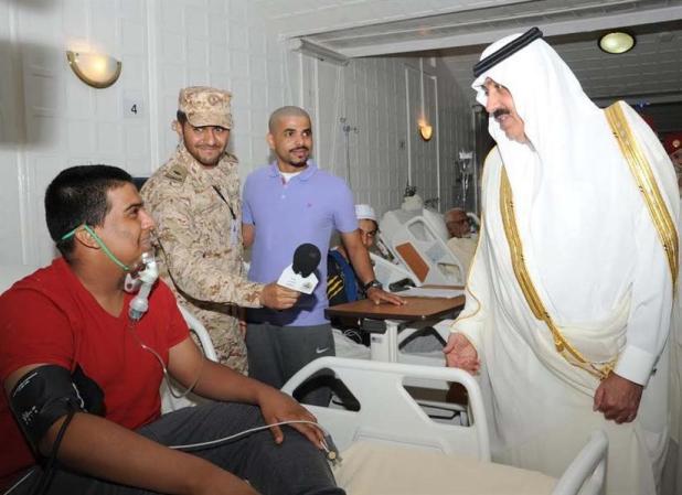 الأمير متعب بن عبدالله يتفقد مقر وزارة الحرس الوطني بمنى