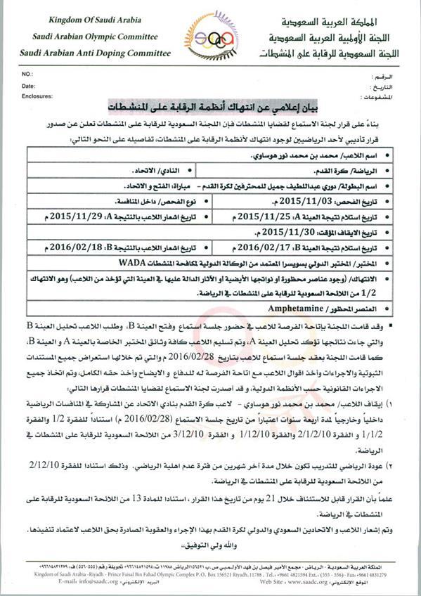 رسميا.. المنشطات توقف محمد نور لمدة 4 سنوات