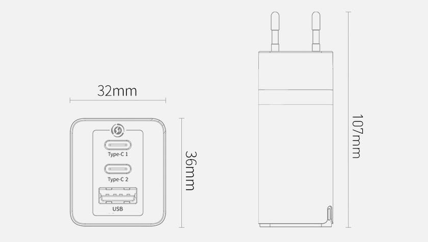 Baseus GaN2 Pro 65W Hızlı Şarj Aleti Macbook Pro Şarj Aleti