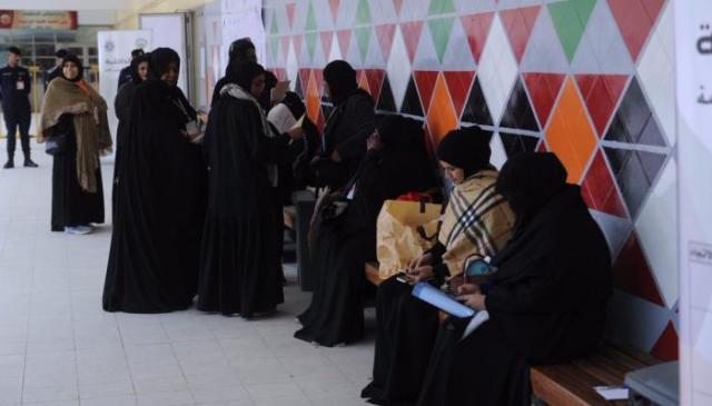 إقبال في مراكز التصويت النسائية